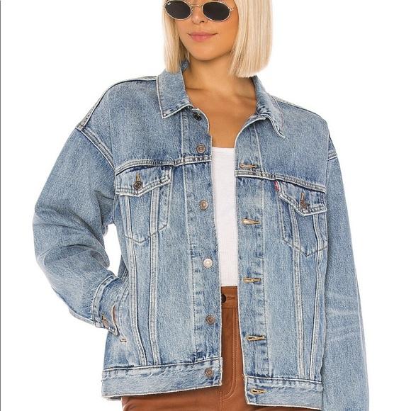 revolve levi's ex boyfriend trucker jacket